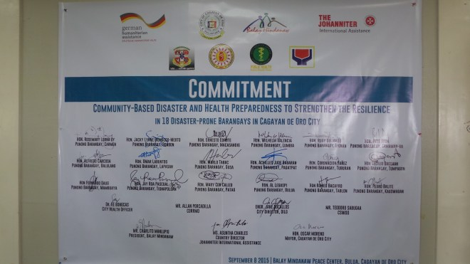 The symbollic commitment signed by the participants