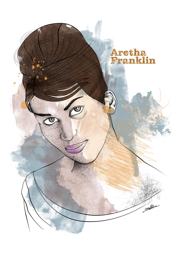 Aretha Franklin _ Serie Iconos POp