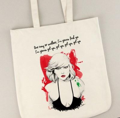 Bolsa de lona con la ilustración de Debbie Harry
