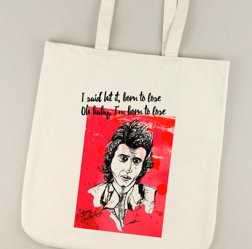 Bolsa de lona con la ilustración de Johnny Thunders