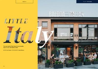 balboa-italian-restaurant-palm-beach-cover-spread-feature-in-mercedes-benz-gold-coast-magazine