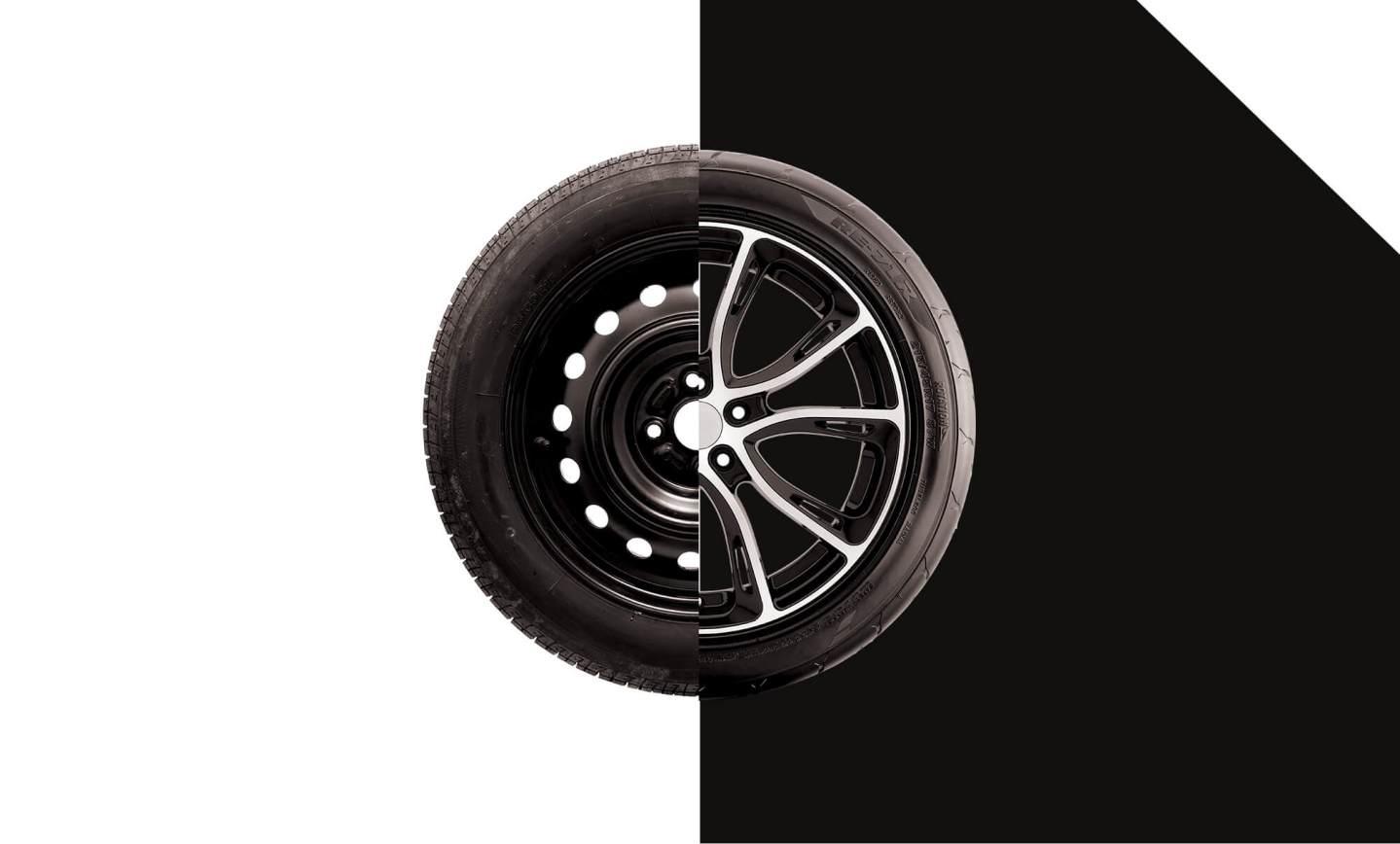 Qual a diferença entre as rodas de aço e de liga leve?