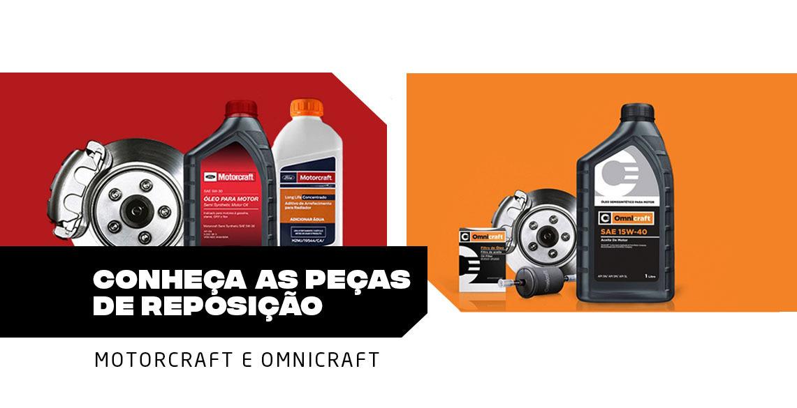 Conheça as peças de reposição Motorcraft e Omnicraft