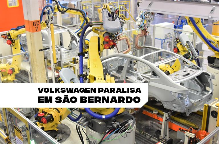 Após Taubaté e São José dos Pinhais, Volkswagen anuncia paralisação por 10 dias em São Bernardo