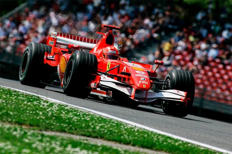 Michael Schumacher durante prova pela Ferrari