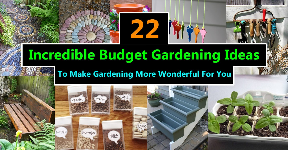 22 Incredible Budget Gardening Ideas | Garden Ideas On A ... on Garden Design Ideas On A Budget  id=80290