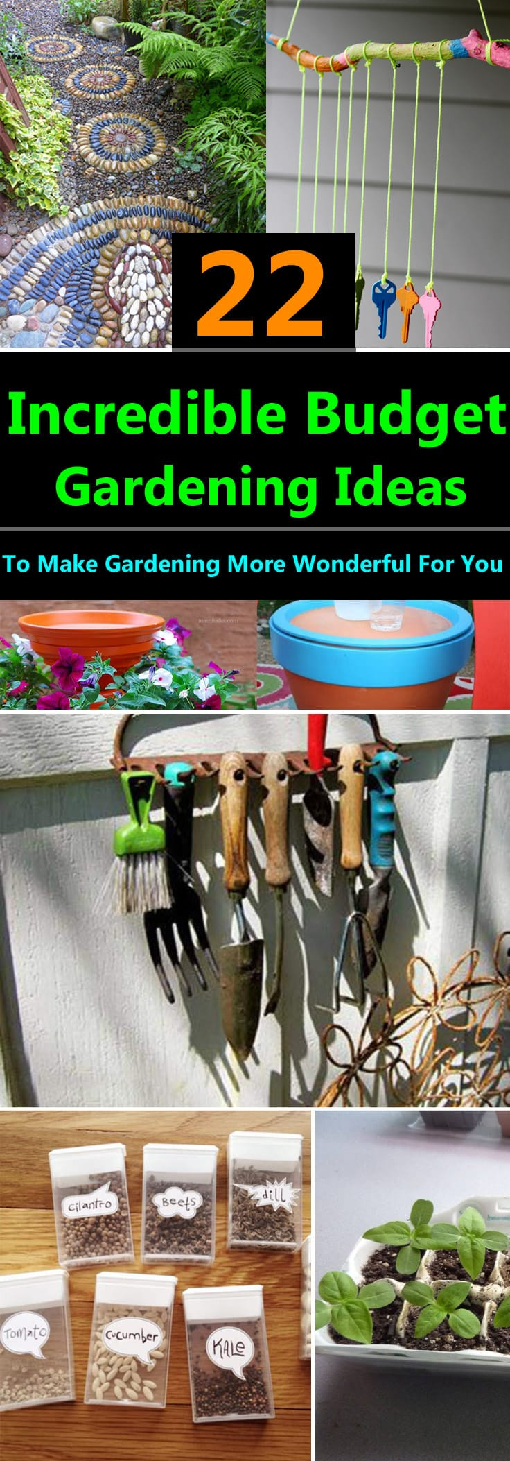 22 Incredible Budget Gardening Ideas | Garden Ideas On A ... on Garden Design Ideas On A Budget  id=67786