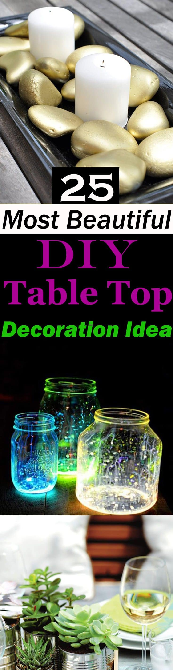 25 most beautiful diy table top