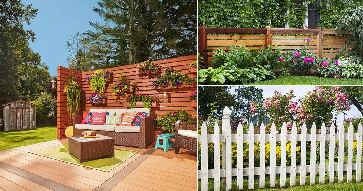 31 Best Privacy Fence Ideas for Backyard on Decorations For Privacy Fence id=90651