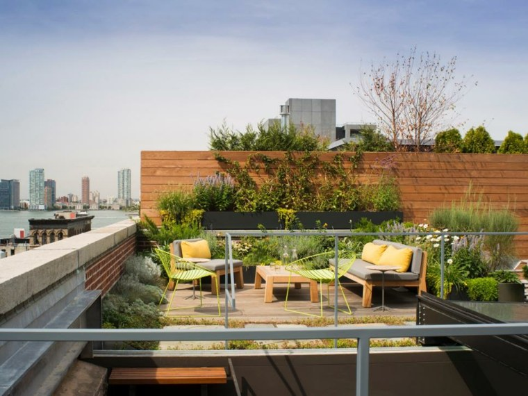 21 Beautiful Terrace Garden Images You should Look for ... on Terraced House Backyard Ideas id=46227