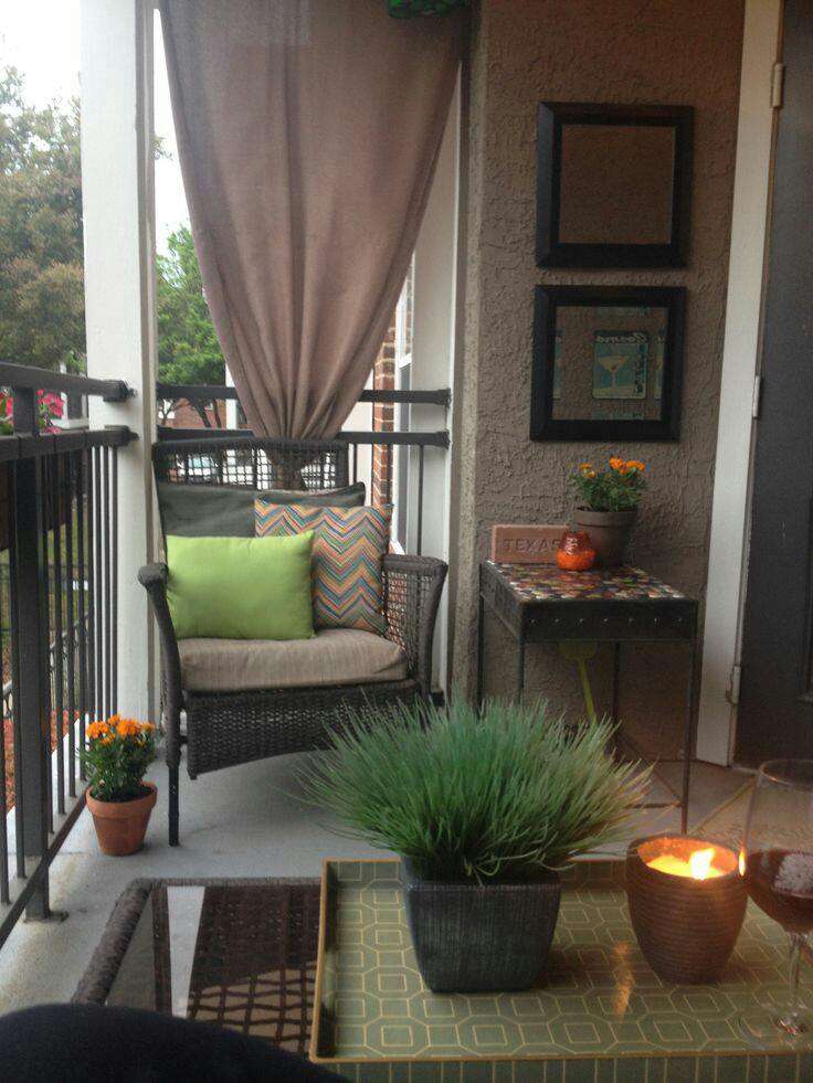 Balcony Wall Designs | 7 Balcony Interior Pictures for ... on Apartment Backyard Patio Ideas id=95319
