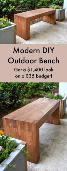 pinterest garden bench ideas 20 Amazing DIY Garden Furniture Ideas | DIY Patio