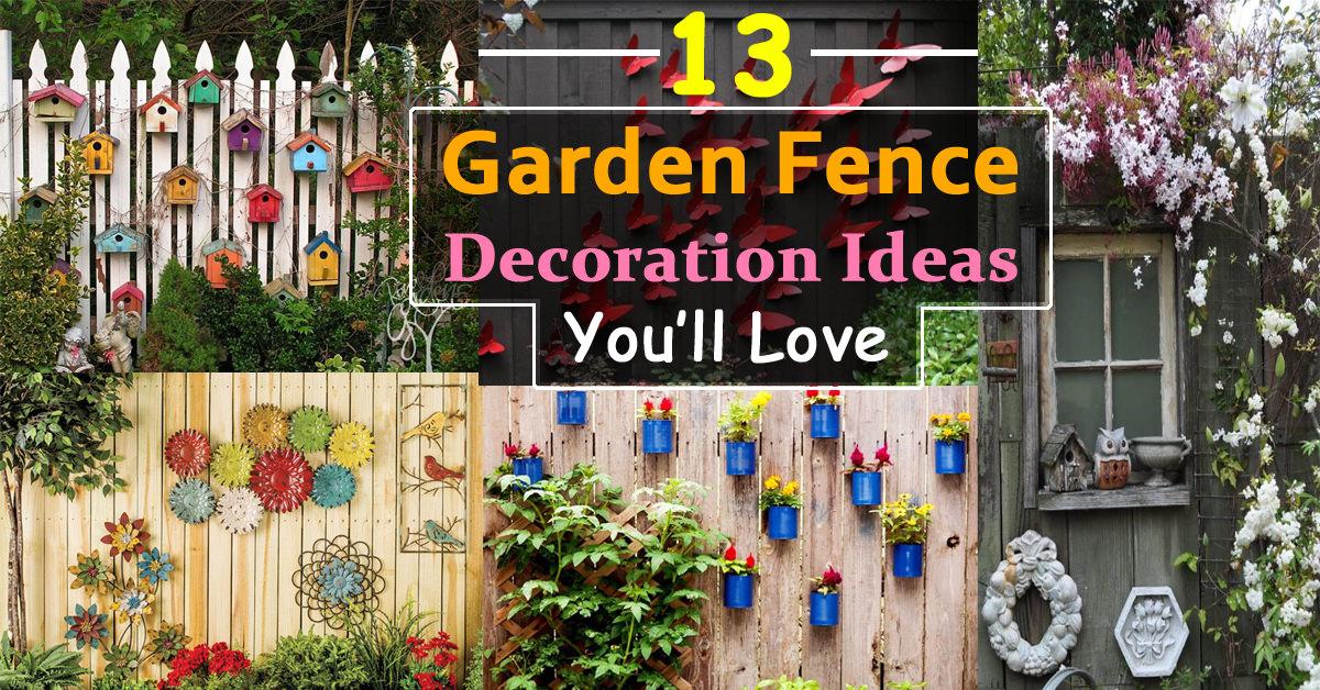13 Garden Fence Decoration Ideas To Follow | Balcony ... on Backyard Wall Decor Ideas id=82386
