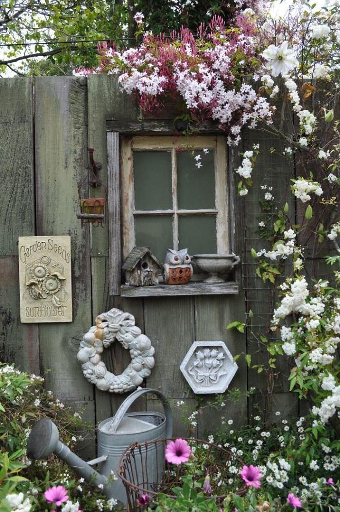 13 Garden Fence Decoration Ideas To Follow | Balcony ... on Backyard Wooden Fence Decorating Ideas  id=15170