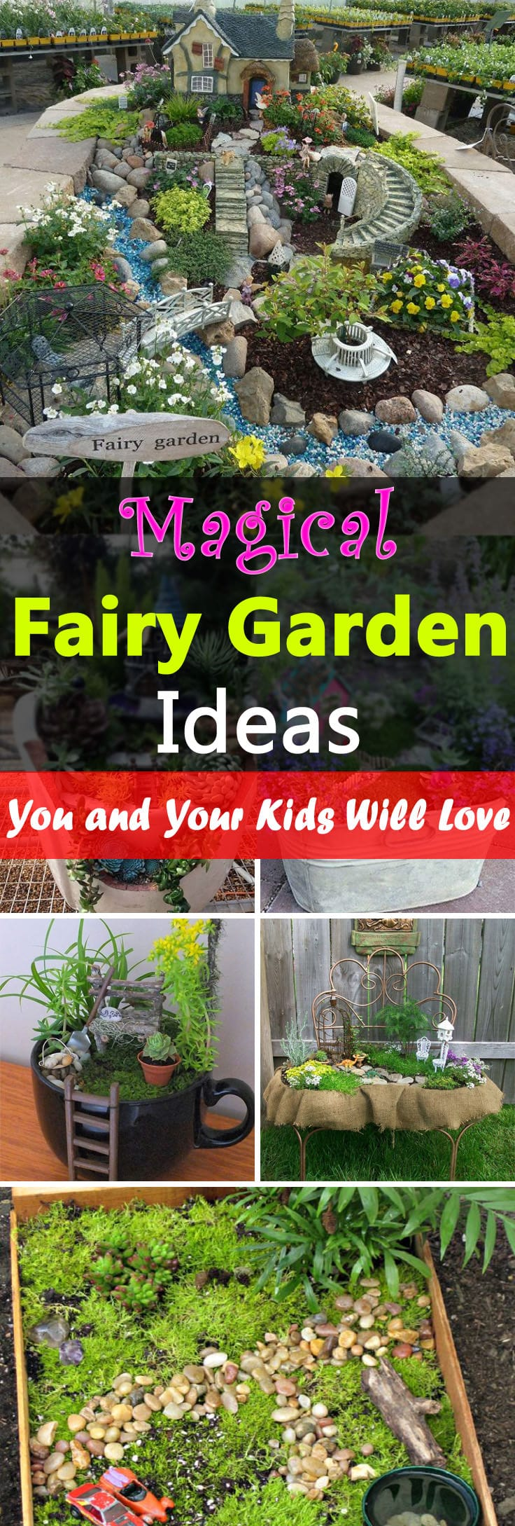 Magical Fairy Garden Ideas You & Your Kids Will Love ... on Magical Backyard Ideas id=14910