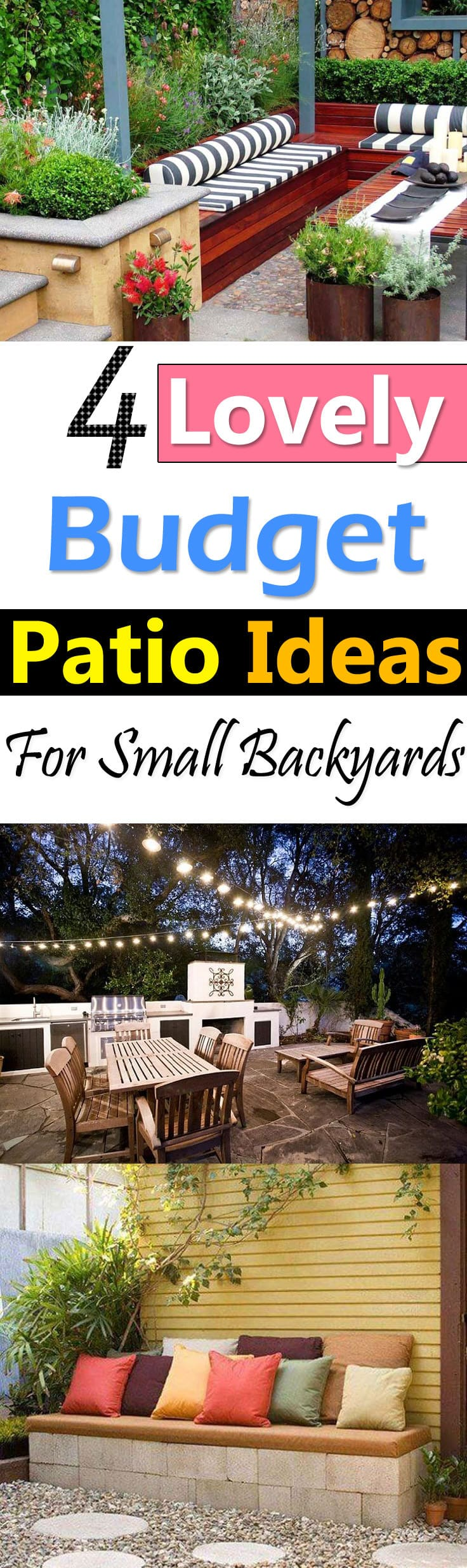 4 Lovely Budget Patio Ideas For Small Backyards | Balcony ... on Backyard Patios On A Budget id=14964
