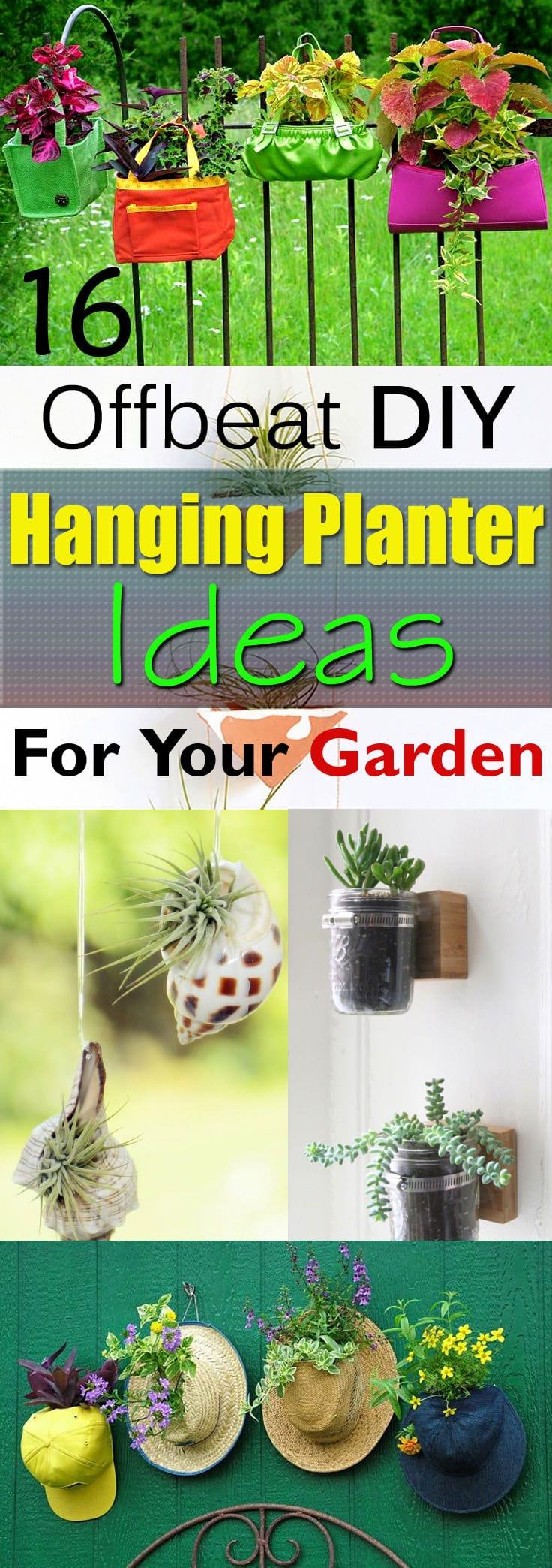 16 Offbeat DIY Hanging Planter Ideas   Balcony Garden Web on Hanging Plants Ideas  id=73388