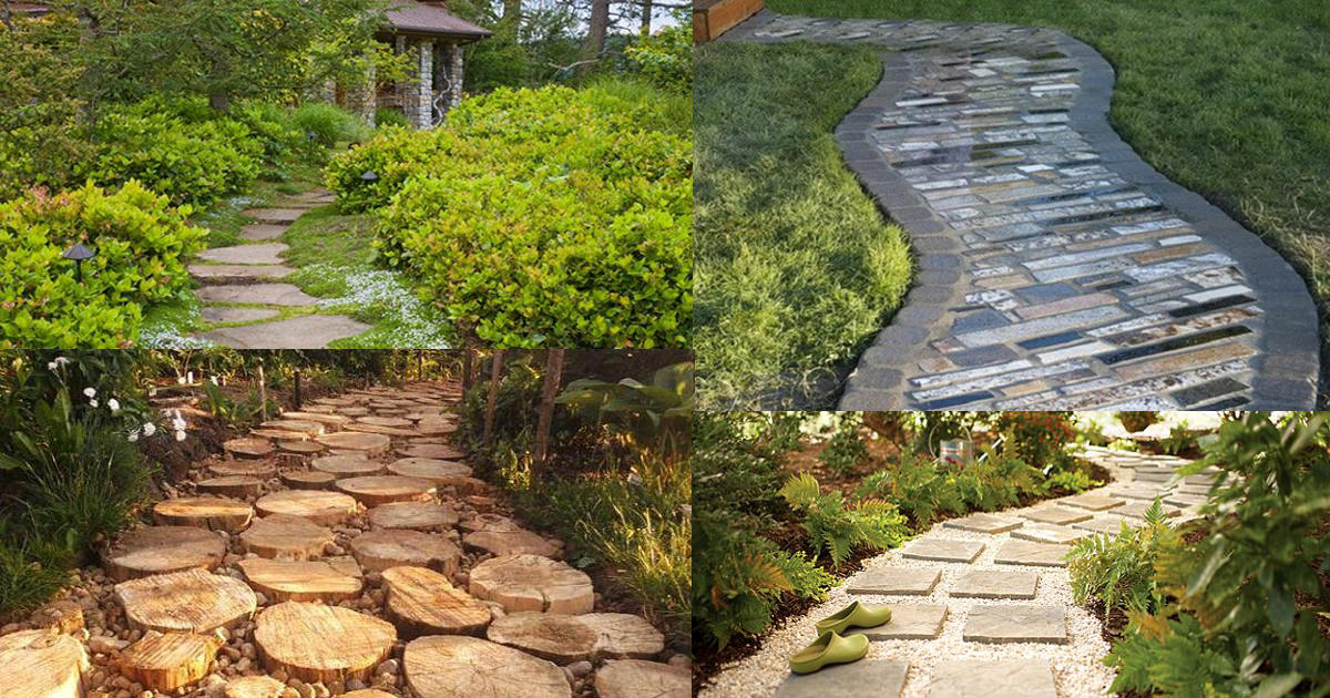 19 DIY Garden Path Ideas With Tutorials | Balcony Garden Web on Sloping Garden Path Ideas  id=75050