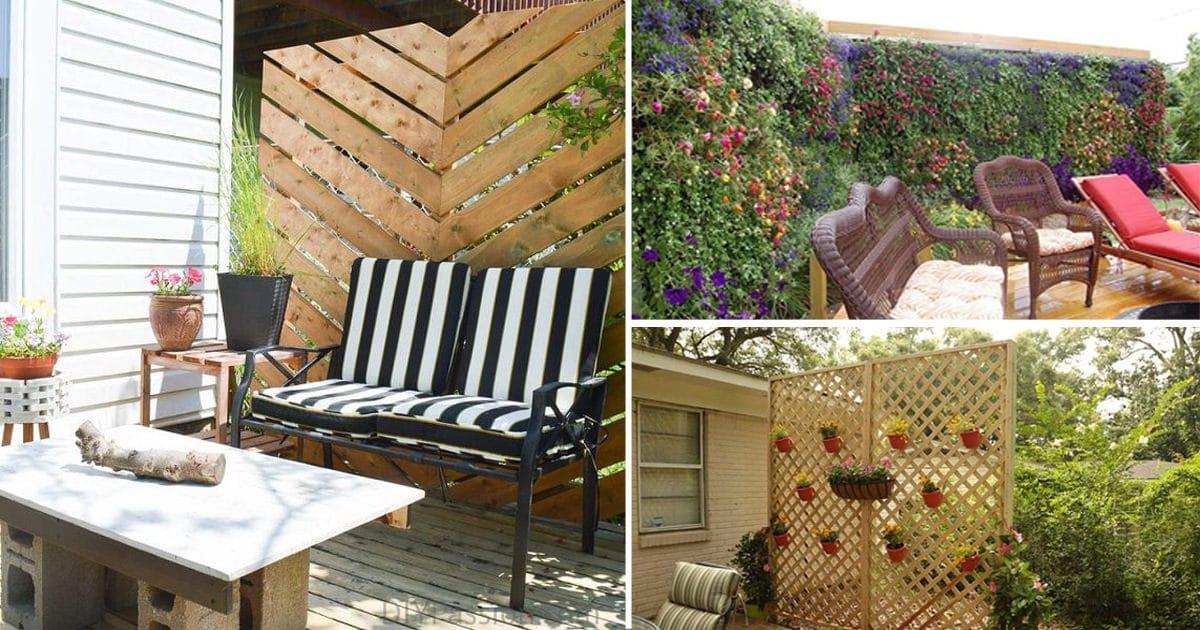 26 DIY Garden Privacy Ideas That Are Affordable ... on Diy Garden Patio Ideas id=39912