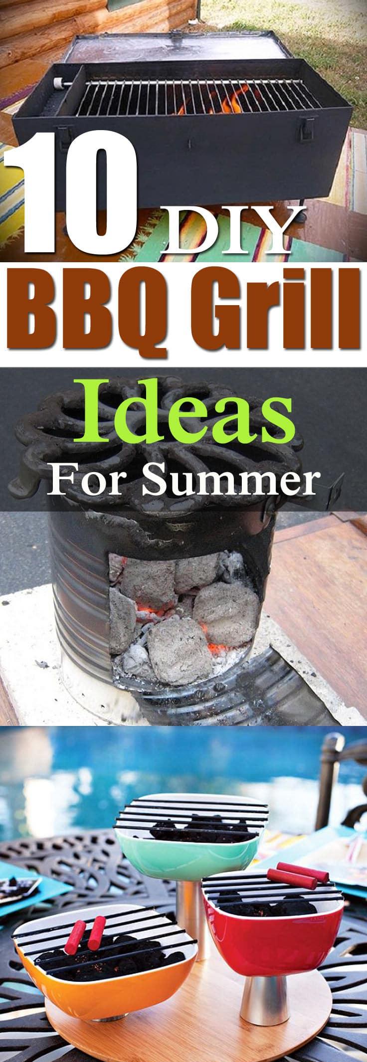10 DIY BBQ Grill Ideas For Summer   Balcony Garden Web on Diy Bbq Patio id=66047