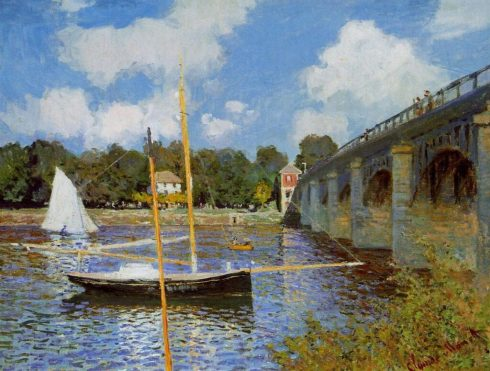Claude Monet's Bridge at Argenteuil, painted in 1874. a perfect example to study impressionism.