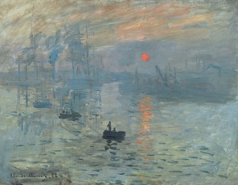 Claude Monet's famous Sunrise impression art, It was the first painting to receive the title of impressionism.