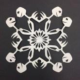 Cut Paper snowflake-Nightmare Before Christmas