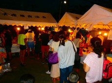 Waiting for food, Our neighbourhood party, Hon-Atsugi, July 2014