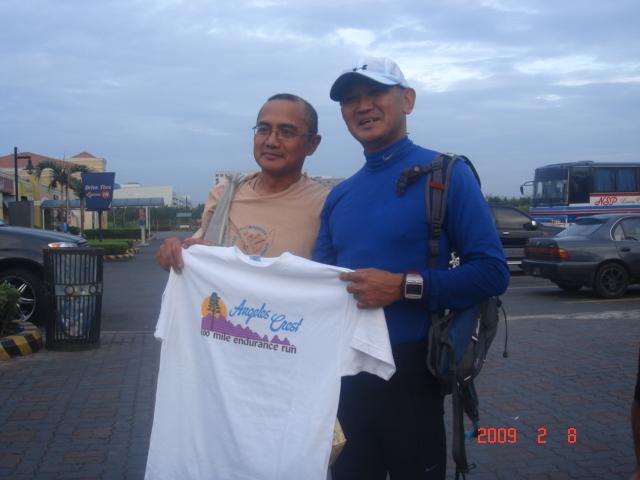 Ben Gaetos Giving An Angeles Crest 100-Mile Endurance Trail Run Finisher's T-Shirt