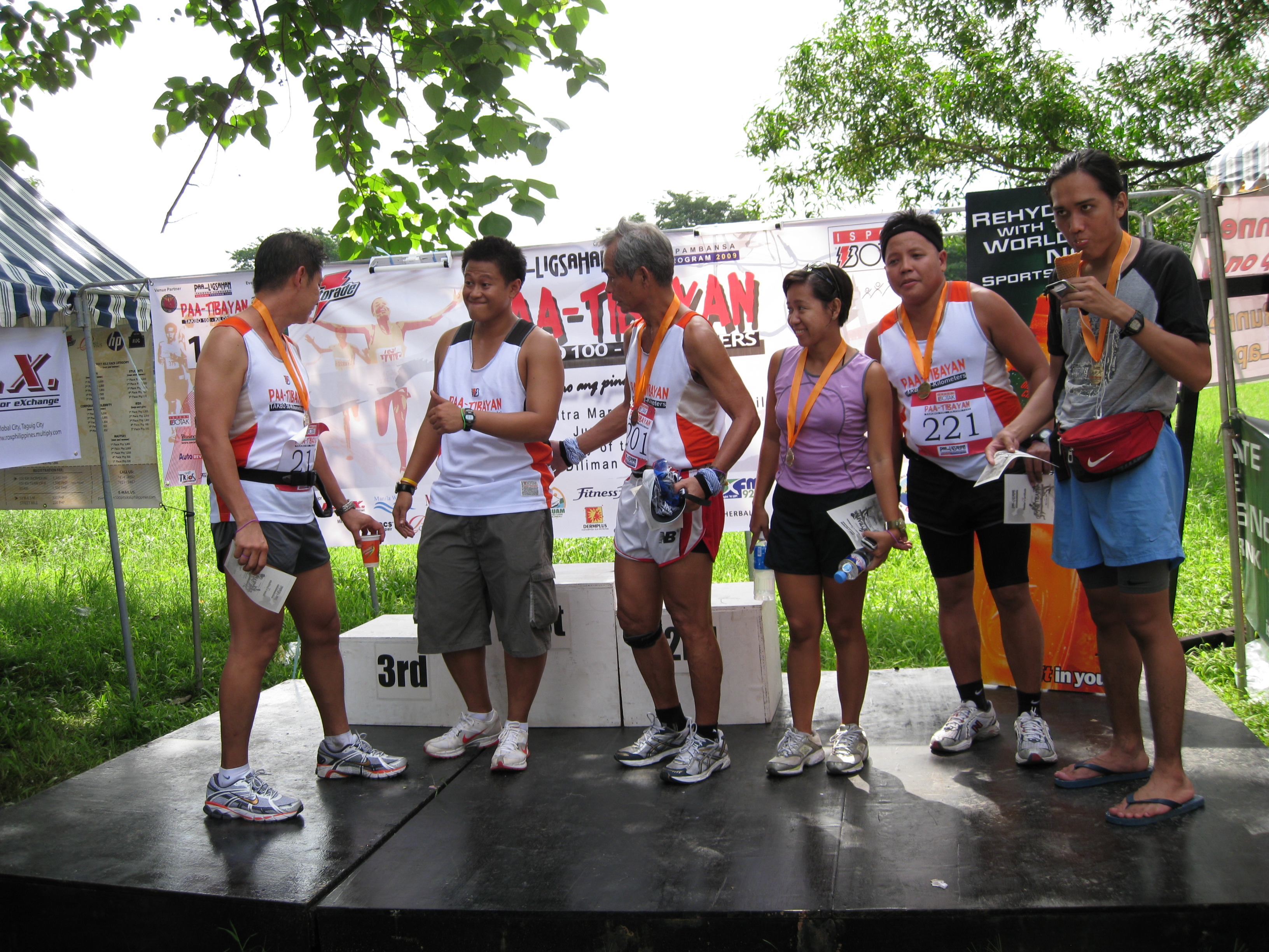 Awarding Ceremony For The BOTAK 100K/50K Finishers
