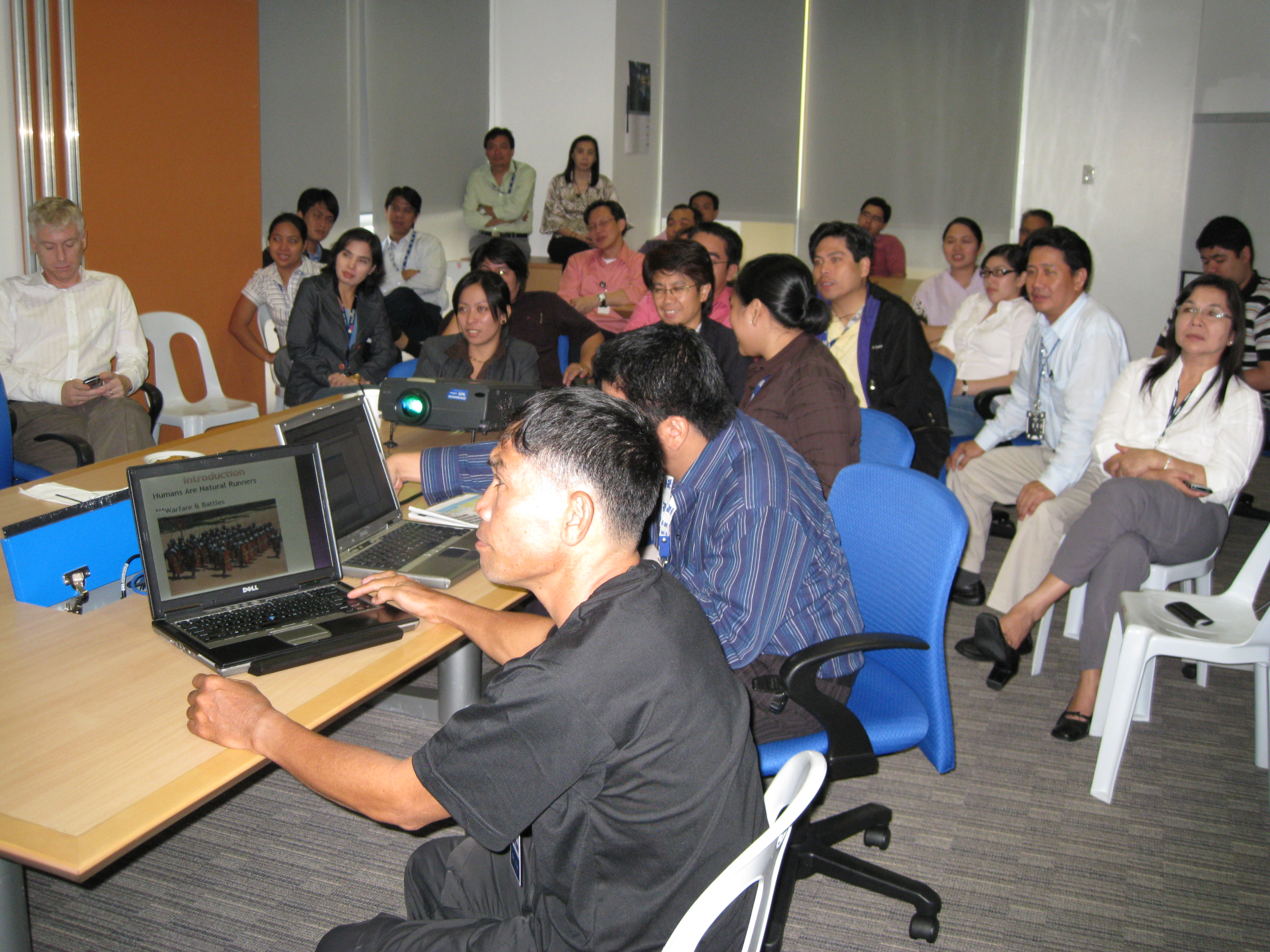 Participants In The Running Lecture
