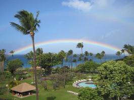 Hawaii resort rainbow