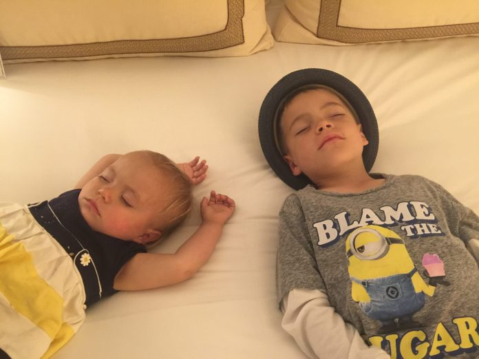 Kimpton Solamar Virtuoso Suite kids crashed out