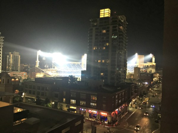 Kimpton Solamar Virtuoso Suite view of Petco Park