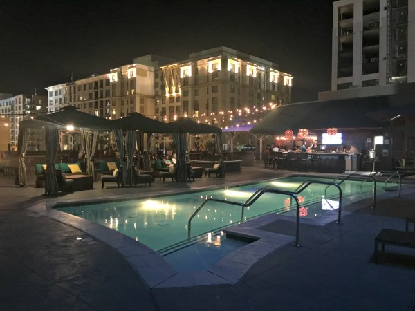 Kimpton Solamar pool at night