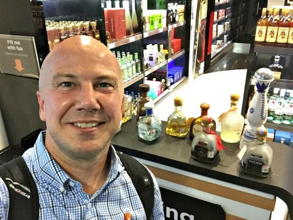 SJD airport tequila sampling
