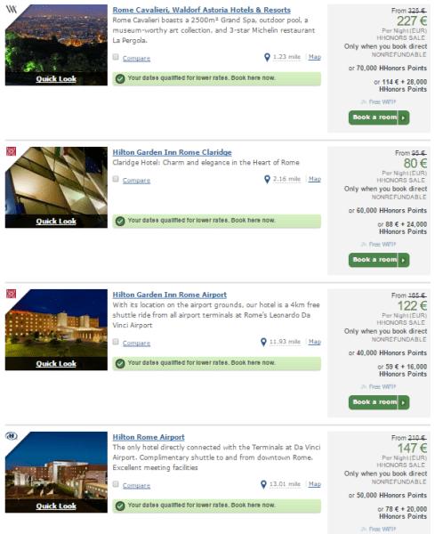 Hilton Rome options