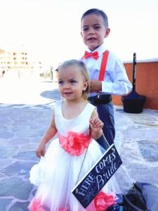 Sandos Finisterra kids at wedding