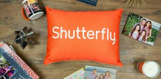 Shutterfly pillow logo
