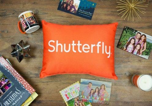 Shutterfly pillow logo