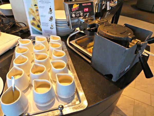 Hilton Stockholm Slussen buffet waffle maker