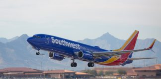A Southwest Airlines Boeing 737 Takes Off
