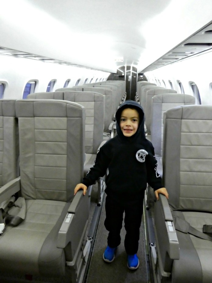 Timmy on empty JetSuiteX plane