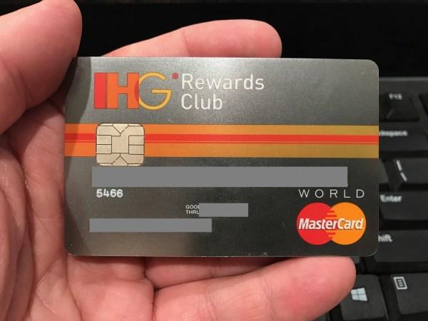 Chase IHG Rewards credit card