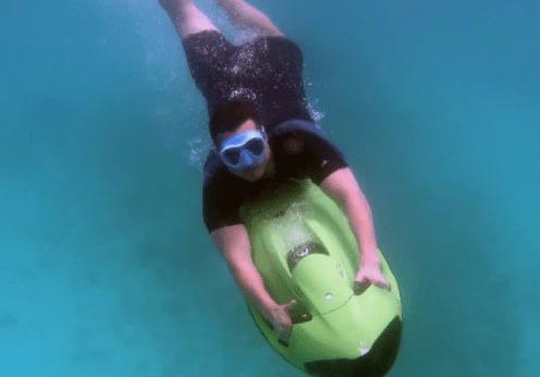 Aruba Seabob Charlie underwater