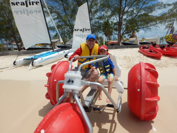 Kimpton Seafire Grand Cayman aqua bike best things to do on grand cayman