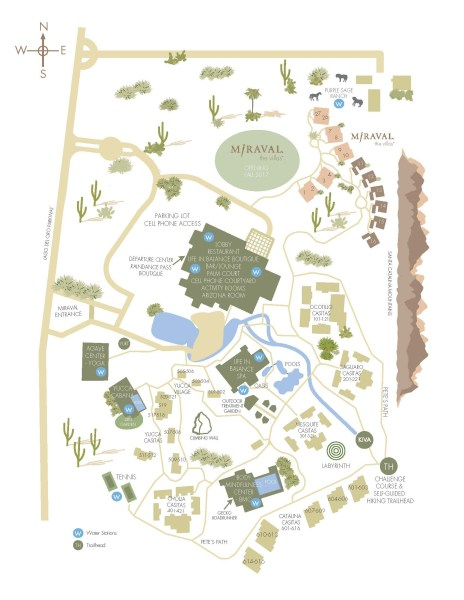 Hyatt Miraval Resort map