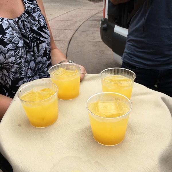Hyatt Miraval Resort welcome drink