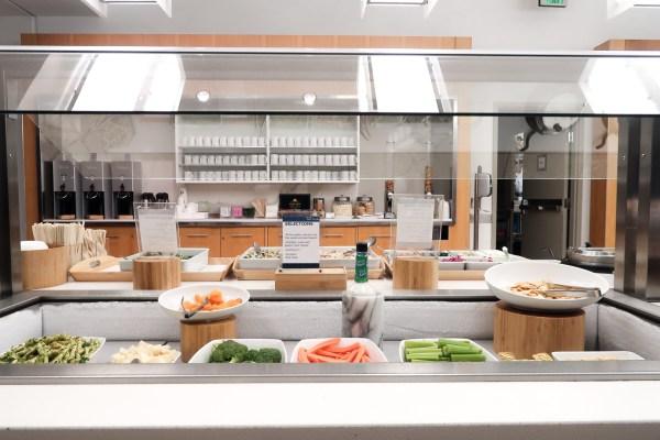 Delta Sky Club Lounge LAX Food