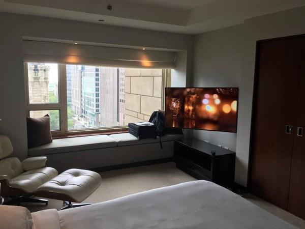 Park Hyatt Chicago suite upgrade bedroom viewPark Hyatt Chicago suite upgrade bedroom view